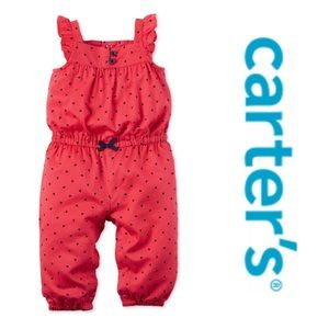 Girls heart jumpsuit by Carter's. Size 3 months